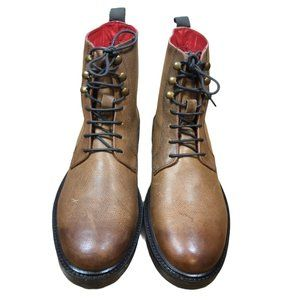 Base London BRUNEL Brown Leather Boots- 9 / 42